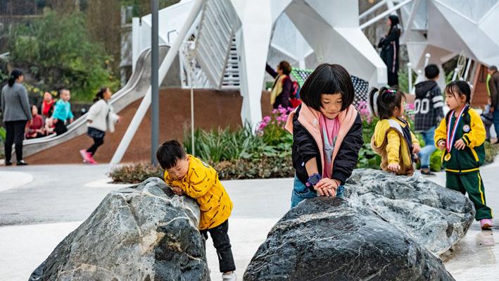 Sân chơi trẻ em ở Chongqing Dongyuan của Cty Inlab